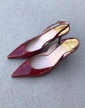 NEW Cole Haan Red Heels Shoes Flona Air.Sling Claret Patent Size 10B - $98.01