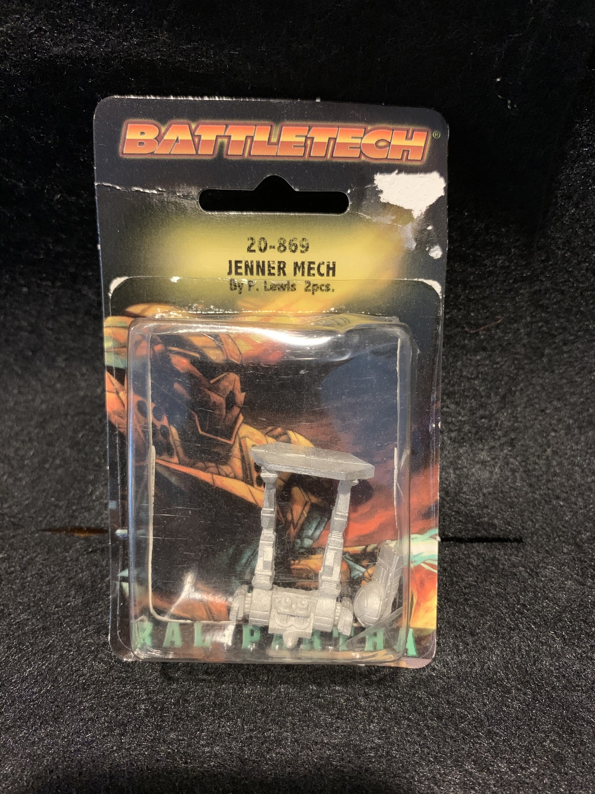BattleTech Pewter Miniatures - Jenner Mech (2 pieces) - By Ral Partha  - $22.00
