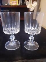 4 Wine Goblet Dessert Glasses Cristal D'Arques Durand St Germain Stemwar... - $19.75