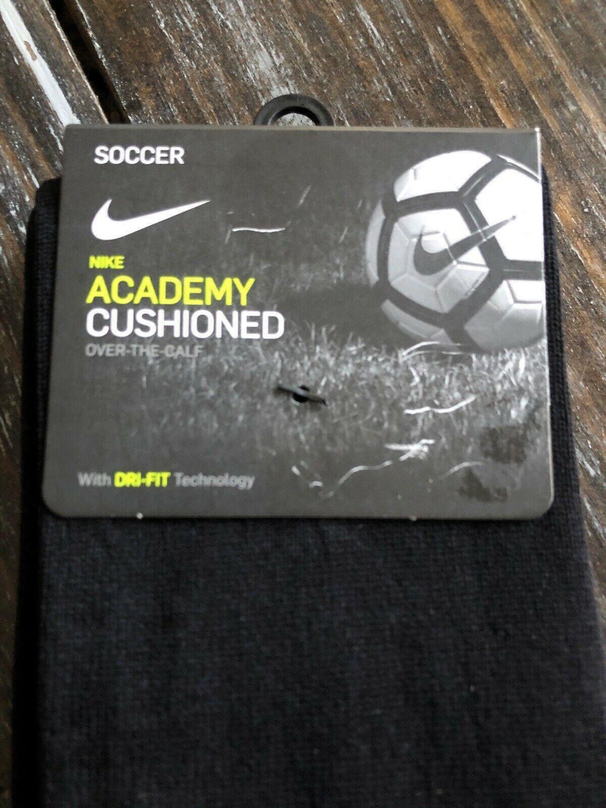 Nike Classic Soccer Socks SX4120 001 Adult All Black Dri Fit Size Medium image 6