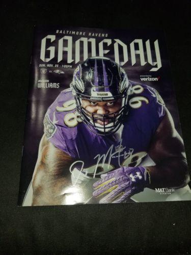 Oakland Raiders Baltimore Ravens Doug Martin GAME DAY Program Autograph