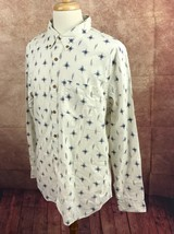 NWT American Eagle Outfitters Classic Fit Off-White Crosshatch  Shirt Me... - $19.79