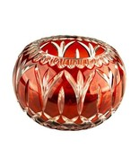 Cranberry Ruby Red Glass Candy Dish Bowl Unique Gift for Her! - $128.70