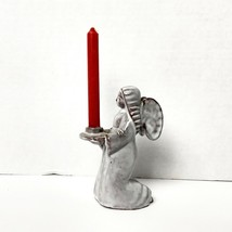 Terracotta Angel Candle Holder Made In Switzerland  - $14.84