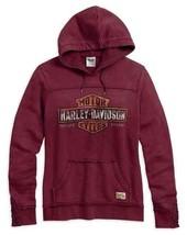 Harley-Davidson Women's Small Burgundy Pullover Hoodie Sweatshirt 99101-... - $36.77