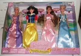 Chic Enchanted Fantasy Fairytale Princesses 4 Doll Set                  ... - $62.56