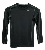 Nike Hyper warm pro combat youth boys t-shirt long sleeve black size M - $17.71