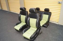 00-04 Volkswagen Vw Beetle Bug Hatchback Turbo GLS Leather Seat Set Green & BLK image 1