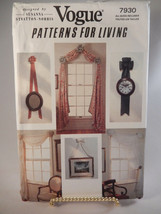 Vogue Pattern 7930 Curtains Window Treatments Bows Uncut Susanna Stratto... - $9.89