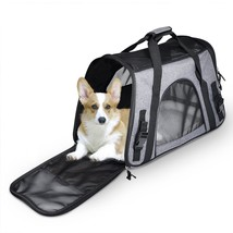 Soft Sided Travel Carrier Airplane Approved Tote Bag Fleece Mat For Smal... - $32.66