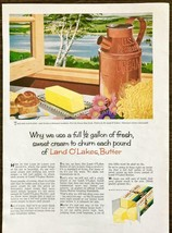 1958 Land O' Lakes Butter PRINT AD Why We Use a Full Half Gallon of Swee... - $11.89