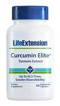 3 PACK Life Extension Curcumin Elite Turmeric Extract 500 mg 60 cap super bio - $58.00