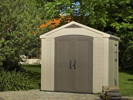 Keter Factor 8' x 6' Resin Storage Shed, All-Weather Plastic Outdoor Sto... - $1,112.44
