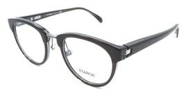 Starck Eyes Mikli Rx Eyeglasses Frames SH3043 0001 48-21-145 Brown Crystal Blue - $105.06