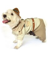 Dog Costume INDIANA BONES COSTUMES Jones Adventure Dogs Clothes(Size 1) - $35.78
