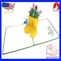 3d pop up vintage happy birthday greeting card handmade gift with blank ... - $20.22