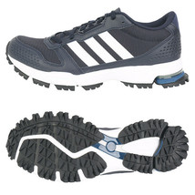 Adidas Men's Marathon 10 Running Shoes Athletic Training Navy/White D96614 - £73.01 GBP+