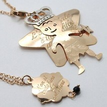 Silver Necklace 925 Laminated IN Rose Gold LE FAVOLE With Prince And Star image 1