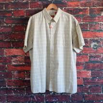 Izod Luxury Sport Mens Short Sleeve Shirt 2XL Yellow Plaid - $11.60