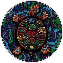 Mosaic Turtle Outside Window Sticker  Deadhead Hippie   Car Decal - $5.49