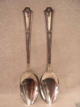 Serving Spoons RC Co Bouquet Pattern Silver Plate Flatware Lot of 2 - $10.84