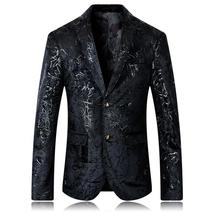 Men casual coat jacket British style printing classics business blazer s... - $709.08+