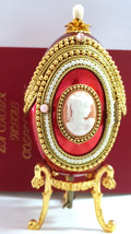 Easter Faberge Russian egg style Foto frame Musical Jewelry box 24kt Gold HANMDE - $589.00