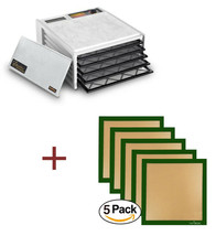Excalibur Dehydrator 3500W White 5 Tray Food Dryer + Silicone Drying She... - $123.70