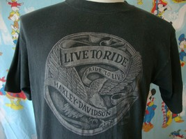 Vintage 80's Harley Davidson Motorcycle Live To Ride Phoenix T Shirt L  - $59.39