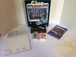 Complete Clue VCR Mystery Game Parker Bros 1985 w/ Sealed Card Decks - $20.00