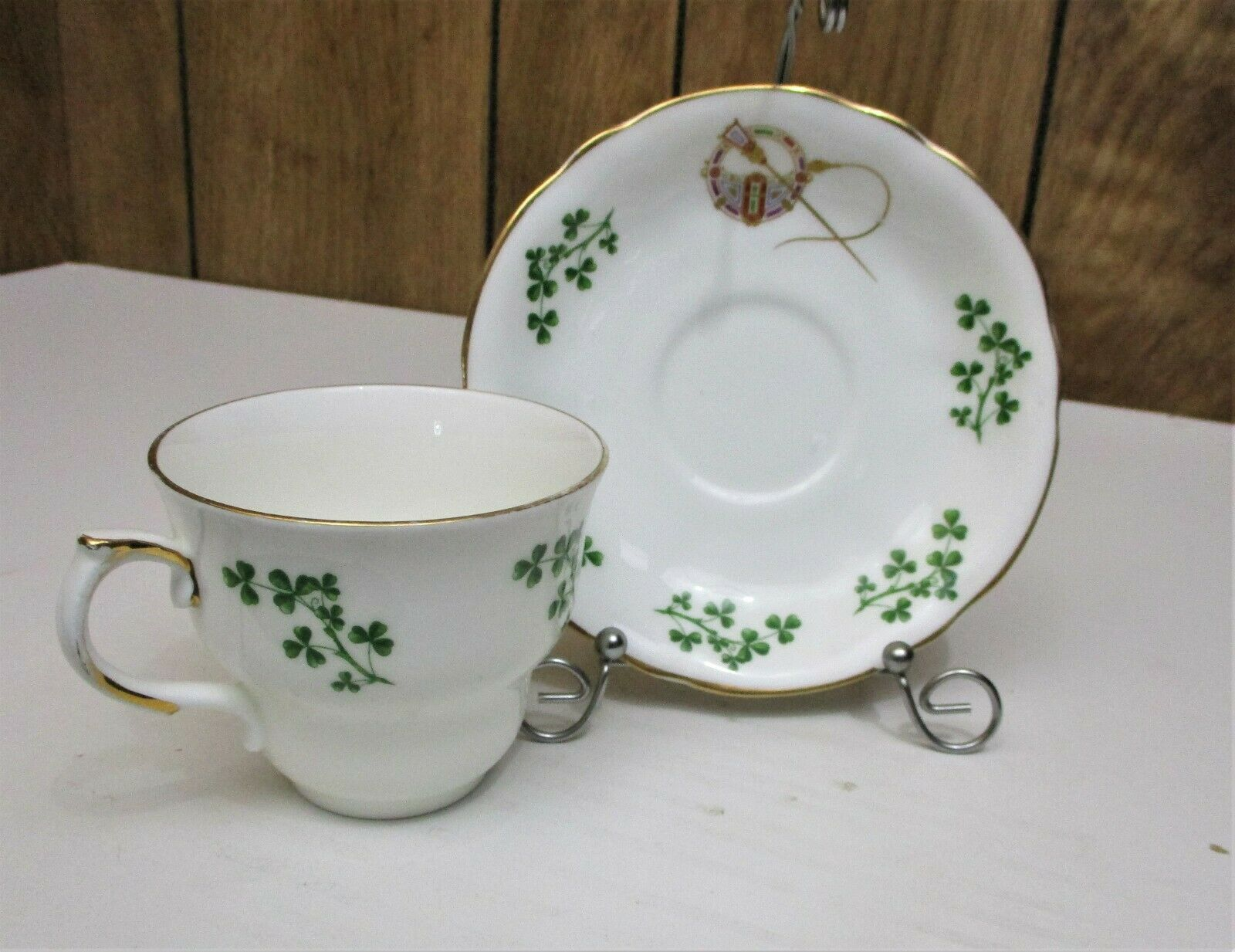 Primary image for Arklaw Shamrock/Tara Brooch Tea Cups and Saucers set of Four