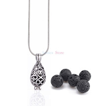 Lava Stone 8mm Aromatherapy Essential Oil Diffuser Locket  - $9.98