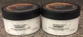 X 2~ The Body Shop Coconut 1.7oz Travel Size Body Scrub New - $13.66