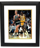 Larry Bird signed Boston Celtics 8x10 Photo Custom Framed (vs Magic John... - £119.09 GBP