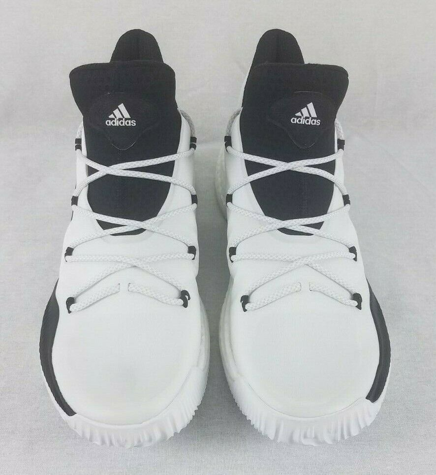 watch 2ed91 57dfc adidas SM Crazy Explosive Low Basketball Shoes 17 White Black NBA NCAA  BY4272