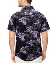 Men's Cotton Short Sleeve Casual Button Down Floral Pattern Dress Shirt image 6