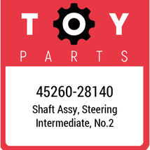 45260-28140 Toyota Shaft Assy Steering, New Genuine OEM Part - $172.01