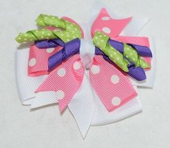Unbranded Infant Toddler Lime Green Hat Stretch Removable Bow Multicolor image 7