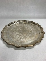 VINTAGE Reed barton round 58 chippendale silver plate platter plate serving - $48.51