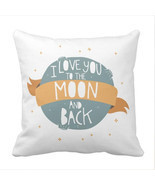 I Love You to the Moon And Back Decorative Throw Pillow Case - £7.12 GBP+