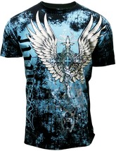 Men's Flight Eagle Spade Graphic Designer MMA Muscle T-shirt TA778-BK - €14,64 EUR