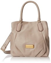 Marc by Marc Jacobs Q Fran Leather Shoulder Bag in Puma Taupe - $197.99