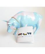 Cow Parade Pink Blue Lullaby 9182 Countryside Farm Animal Figurine with ... - $17.95
