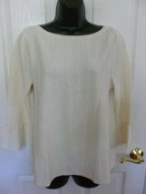 Ann Taylor Womens Light Weight Cream Sweater, Bell Sleeve, Size L Large NEW - $19.27