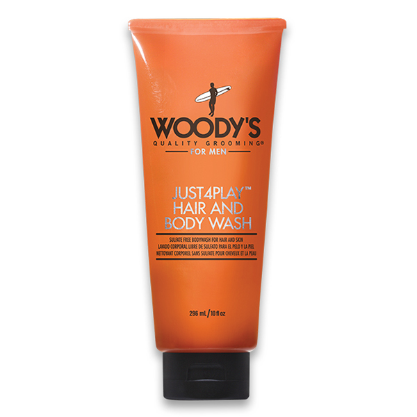 Woody's Just4Play Hair and Body Wash, 10 oz