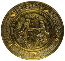 Vintage Elpec England Brass Wall Art Plate - $49.98