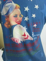 American Clothing Co Womens XL Patriotic T Shirt Performance Hall VICTORY Stars - $20.57