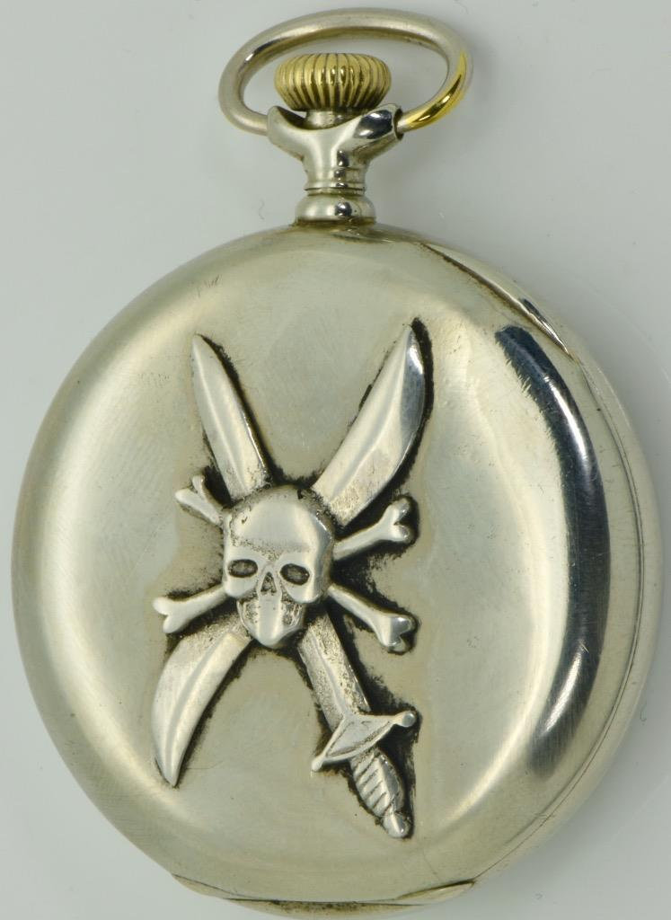 Primary image for Imperial Russian White Army Pilot's award Skull&Propeller Longines pocket watch