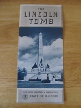 Vintage The Lincoln Tomb Souvenir State of Illinois Travel Brochure~B1G3... - $0.99