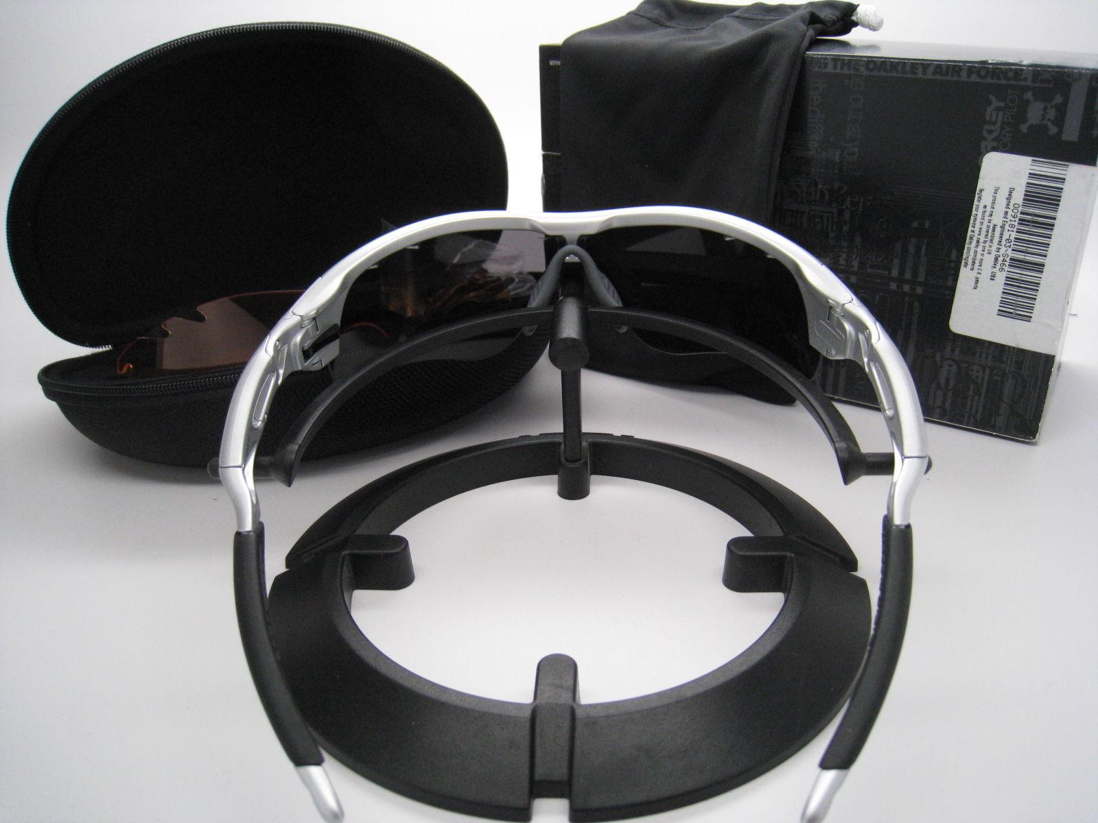 Oakley Radarlock Path Traspirabilità Argento con / Ghiaccio Iridium/Arancione